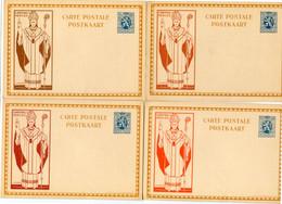 4 Ongelopen Kaarten 50c - CARDINALIS MERCIER - L. CH. CRESPIN - 4 Kleuren - 4 Couleurs - - Tarjetas Ilustradas