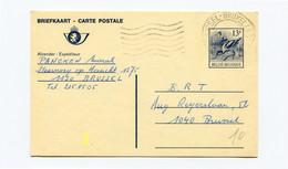13 Fr Postkaart Kluut - Stempel BRUSSEL 1130 - Cartes Postales [1951-..]
