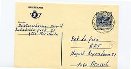 13 Fr Postkaart Kluut - Stempel NEUTRAAL 1987 - Cartes Postales [1951-..]
