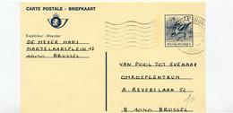 1987 Briefkaart 13 Fr Kluut - 2 Talige Frans / NL - Brussel 1000 - Cartes Postales [1951-..]
