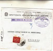 Perugia Per Spoleto, Cover Con Tassa A Carico Del Destinatario 1959 - 1946-60: Mint/hinged