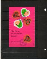 FRANCE   Feuillet De 5 Timbres 3,00 F (0,46 €)     Coeurs Pour La Saint Valentin    2000    Y&T: 27  Oblitéré - Oblitérés