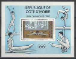 Côte D'Ivoire - Bloc - BF - YT 16 ** MNH - 1980 - Jeux Olympiques De Moscou 1980 - Gymnastique - Exercices Au Sol - Costa De Marfil (1960-...)