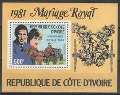 Côte D'Ivoire - Bloc - BF - YT 18 ** MNH - 1981 - Royal Wedding - Costa De Marfil (1960-...)