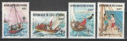 Côte D'Ivoire - YT 613-616 ** MNH - 1982 - Scoutisme - Voile - Sailing - Costa De Marfil (1960-...)