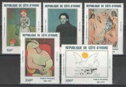 Côte D'Ivoire - YT 627-631 ** MNH - 1982 - Pablo Picasso - Tableaux - Paintings - Costa De Marfil (1960-...)