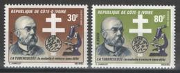 Côte D'Ivoire - YT 617-618 ** MNH - 1982 - Tuberculose - Robert Koch - Costa De Marfil (1960-...)