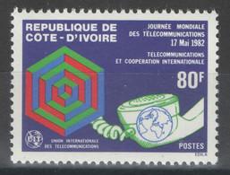 Côte D'Ivoire - YT 619 ** MNH - 1982 - Télécommunications - Costa De Marfil (1960-...)
