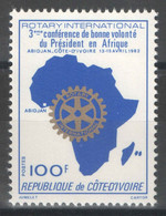 Côte D'Ivoire - YT 604 ** MNH - 1982 - Rotary International - Costa De Marfil (1960-...)