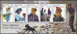 Île De Man 2000 Yvertn° 911-915 *** MNH  Cote 10 € Prince William 18e Anniversaire - Isla De Man