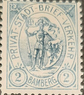 Germany Stadtpost/Privatpost Bamberg2 Pfg Unused Michel 4a? - Sello Particular