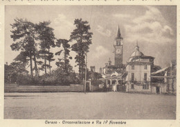 9970-CERANO(NOVARA)-CIRCONVALLAZIONE E VIA IV NOVEMBRE-1946-FG - Novara