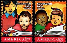 Peru 2007 ** YT1698-99 Upaep Educación Para Todos. Alumnos Y Libro. Education For All. Students And Book. - Perú
