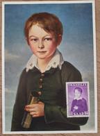 1954 Maximumkarte Saar Baron Emil Von Maugler - Cartas