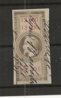 FISCAUX  FRANCE EFFET DE COMMERCE TYPE NAPOLEON III DE BARRE 1864  N°43  6F50 - Fiscale Zegels