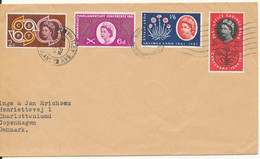 Great Britain Cover Sent To Denmark 20-9-1961 Good Franked - Covers & Documents