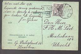 15922 Haarlem 'verzoek Tot Ruil' Gr. Heiligland 65 Aan Den Heer H.M. Post Maliebaan 104 Utrecht (FB-35) - Covers & Documents