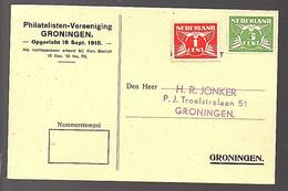 Philatelisten-Vereniging Groningen Rondzending-kaart > Jonker P.J. Troelstralaan 51  (FB-38) - Covers & Documents