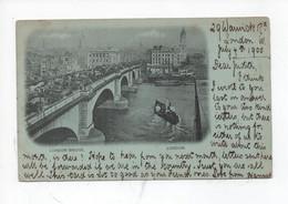 London Bridge  ,  London     -   Posted  1900 - River Thames