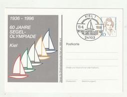 "Bundesrepublik Deutschland - 1996 - Privatpostkarte ""Olympiade"" SSt. ""Segel-Olympiade"", SSt. Kiel (1/158) - Private Postcards - Used"