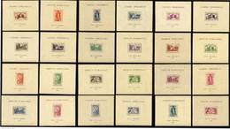 GRANDE SERIE COLONIALE – EXPOSITION INTERNATIONALE PARIS 1937 – 24 BLOCS FEUILLETS ** MNH (TTB) - 1937 Exposition Internationale De Paris