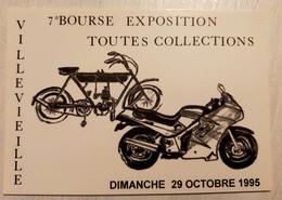 222/CPE - 30 Gard - Villevieille - 7ème Bourse Exposition Toutes Collections - 1995 - Moto Suzuki 1100F Et Motocyclette - Non Classés