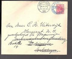 1916 Nat. POSTZ. TENTOONST. 1916 Utrecht > Uiterdiijk Sergant, Gedetacheerd Te Wageningen VELDPOST On Back (FB-46) - Covers & Documents