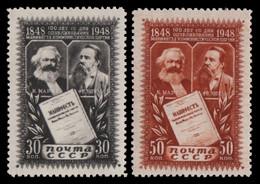 Russia / Sowjetunion 1948 - Mi-Nr. 1201-1202 ** - MNH - Marx & Engels - Unused Stamps