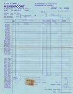 1969: Factuur Van/Facture De ## Cash & Carry MENENPOORT, M.Frenchlaan, 8, IEPER ## Aan/à Brouwerij HAUSPIE, POPERINGE. - Food