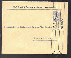 1922 Ahrend & Zoon Amsterdam To Aesthetica Hoogezand (FB-57) - Covers & Documents