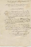 -LETTRE AUTOGRAPHE AMEDEE ROUGET DE LISLE -NEVEU DE L'AUTEUR DE LA MARSEILLAISE-MAIRE DE ST MANDE- 1884-1885 - Autographs