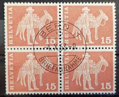 1960 Baudenkmäler Säumer Mit Maultier Viererblock MiNr: 698 - Used Stamps