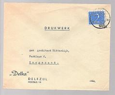 1953 DELKA Delfzijl > Hoogezand (FB-67) - Covers & Documents
