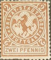 Germany Stadtpost/Privatpost Stuttgart  10 Pfg 1886 Unused  With Gum Michel 2 Hinge - Sello Particular