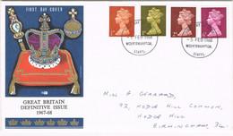 39499. Carta F.D.C. WOLVERHAMPTON (England) 1968. Elisabeth II Queen, Definitive Issue - Covers & Documents