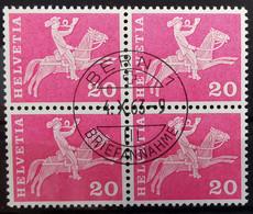 1960 Baudenkmäler Postreiter Viererblock MiNr: 699 - Used Stamps