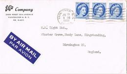 39500. Carta Aerea VANCOUVER (Canada) 1960 To England - Briefe U. Dokumente