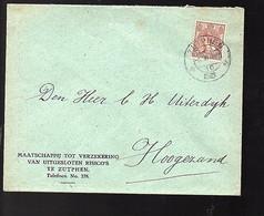 Mij Tot Uitgesloten Risico's Zutphen 1921 > Hoogezand (FB-66) - Covers & Documents