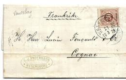 S187/ SCHWEDEN - Wernersborg, 1879, 20 Öre Nach Cognac, Frankreich - Briefe U. Dokumente
