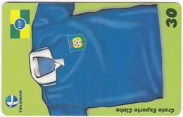 BRASIL O-974 Magnetic Telemar - Sport, Soccer - Used - Brasile