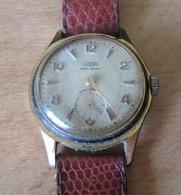 Montre Mécanique Homme De Marque ZAND Avec Bracelet En Cuir Brun-rouge - Mécanisme à Réviser - Antike Uhren