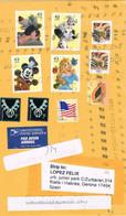 39502. Carta Aerea PITTSBURG (Pa) 2008 To Spain, Gerona - Cartas