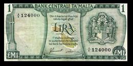 # # # Banknote Malta 1 Pound 1973 # # # - Malta