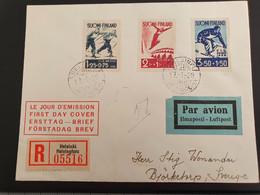 Finland 1938. International Skiing Competition FIS Lahti. Mi. 208-210 - Sci
