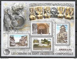 FRANCE F4949 Chemins De Saint Jacques De Compostelle Blaye Oloron Sainte Marie Aire Sur L'Adour Saint Jean Pied De Port - Ongebruikt