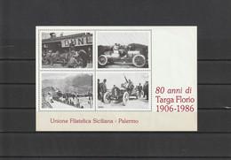 Francobolli - Erinnofili - Palermo 1906 - 1986 - 80 Anni Di Targa Florio - - Erinofilia