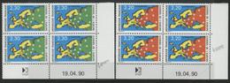 TIMBRES DE SERVICE 2 Coins Datés COTE 17.5 € Neufs ** (MNH) N° 104 + 105 Datés Du 19/04/90. TB - Dienstpost