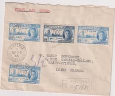 LR- SEYCHELLES OB - VICTORIA- 23 Sept. 1946 Pour La France - Seychellen (...-1976)