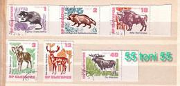 1973  Fauna- ANIMALS  6v.-MNH  BULGARIA / Bulgarie - Nuevos