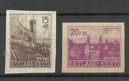 Estland Estonia 1941 German Occupation Michel 4 - 5 U (*) - Occupation 1938-45
